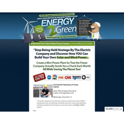 Energy2green - Wind And Solar Power System